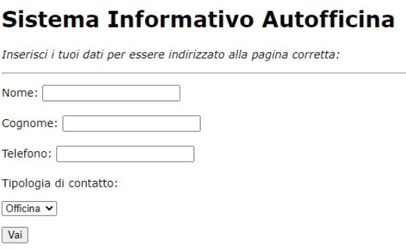Autofficina – PHP Redirect